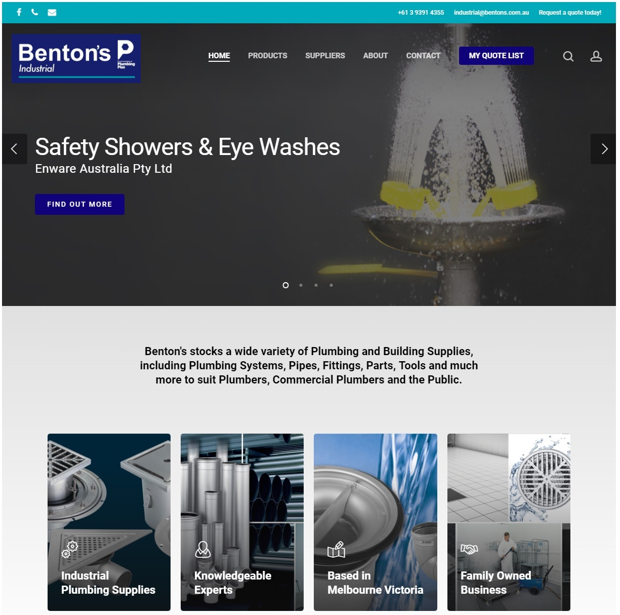 Benton's Industrial Web Site Example